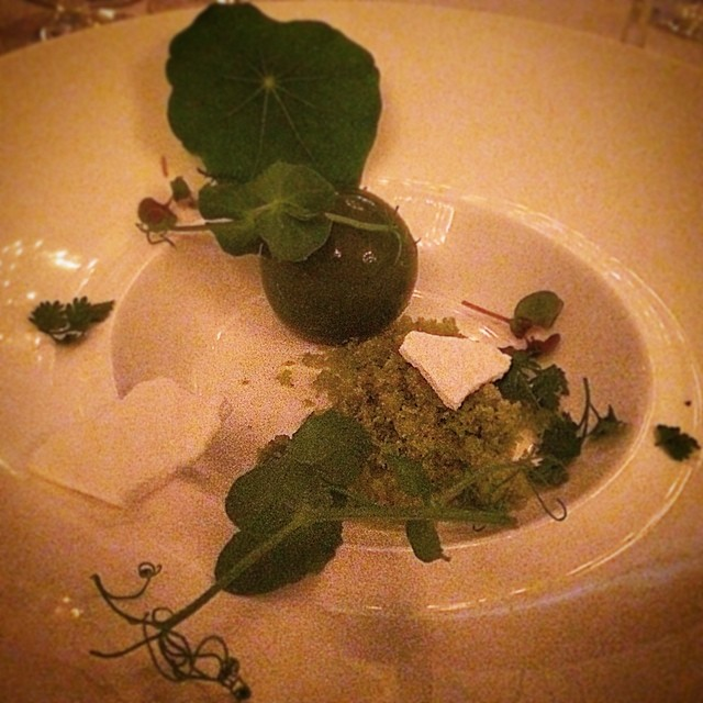 Foiegras parfait globe, parsley dust, meringue crisps, alongside warm brioche. Dish prepared by Chef Nic Poelaert. #bocusedoraustralia @bocusedoraus