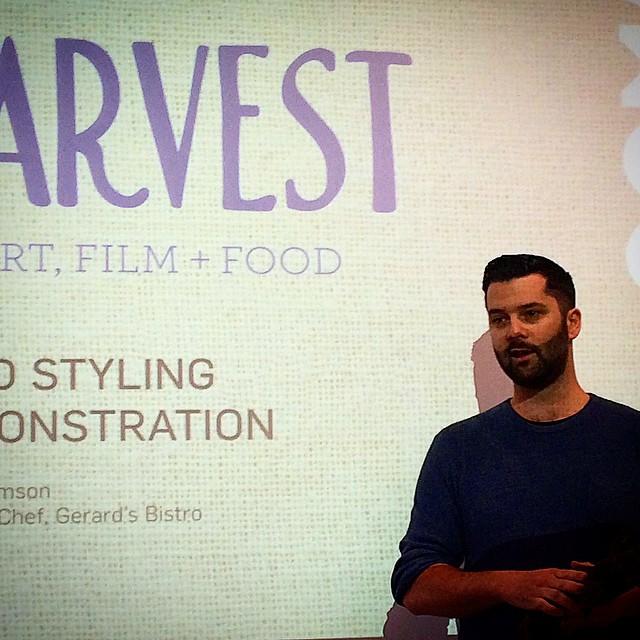 Ben Williamson talks food styling at #GOMA #qagoma #harvest #foodstyling