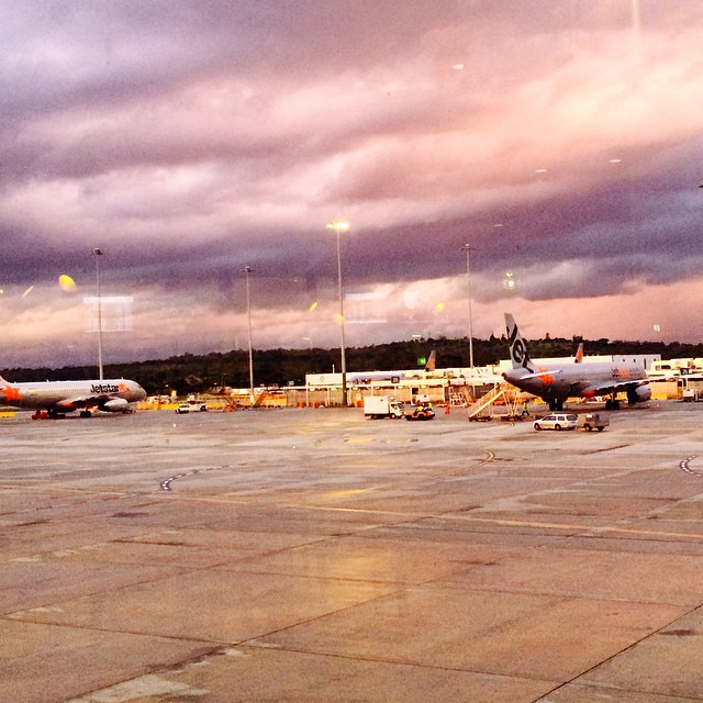 Clouds over Melbourne airport. #melbourne #victoria #stormchaser