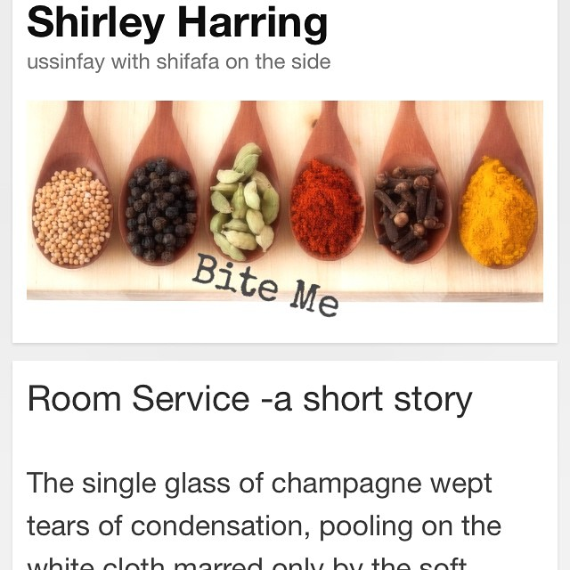 Someone please give my website some lovin' while I'm away? shirleyharring.com. It's lonely.