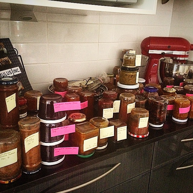 Just a few jars... #recipetesting #thermomix #jam #chutney #relish #pickle