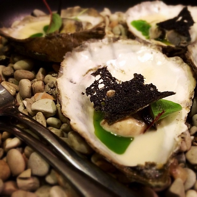 Angassi oysters steamed in buttermilk - my pick of the dishes from last nights #whisky dinner. If love a plate of these, thanks @gerardsbistro @scrumptiousreads #ardberg #glenmorangie
