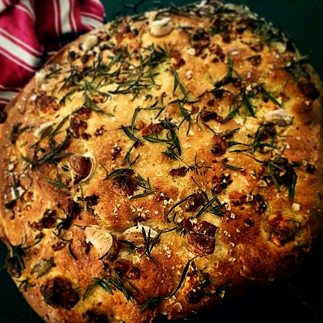 Rosemary and feta #focaccia with help from my #thermomix Last of my homemade feta. #herdshare @beesomac ping @nataschamirosch @fleurcole