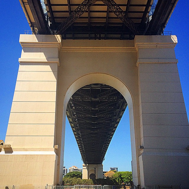 Trip trap, trip trap... Under The Storey Bridge #brisbane #riverwalk #storeybridge