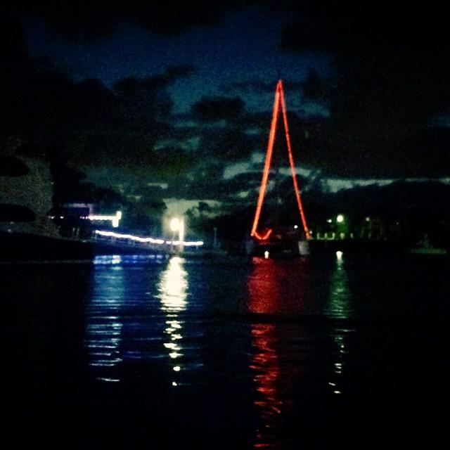 Yachts at #carolsbycanalight #boat #brisbane #river